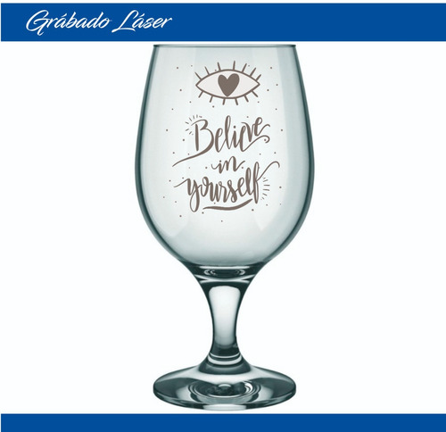 vasos vidrio cerveza copa belga 500ml perzonalizado grabado
