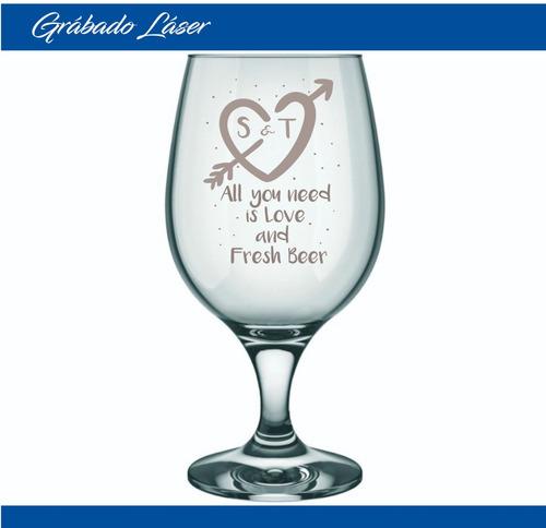 vasos vidrio cerveza x12u copa belga 500ml perzonalizado