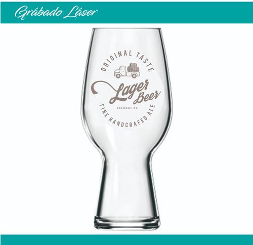 vasos vidrio cerveza x24u copa pinta  540ml personalizado