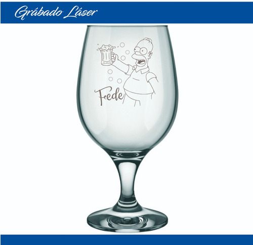 vasos vidrio cerveza x6u copa belga 500ml perzonalizado