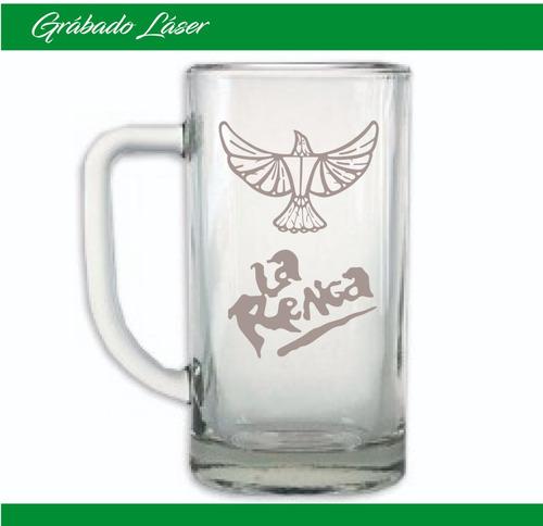vasos vidrio personalizado vaso chopp cerveza 500ml grabado