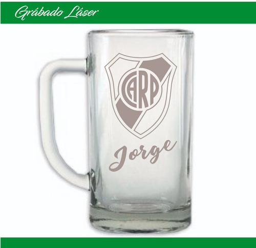 vasos vidrio x 12u. personalizado vaso chopp cerveza 500ml
