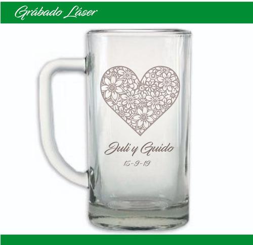 vasos vidrio x 24u. personalizado vaso chopp cerveza 500ml