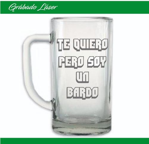 vasos vidrio x 6u. personalizado vaso chopp cerveza 500ml