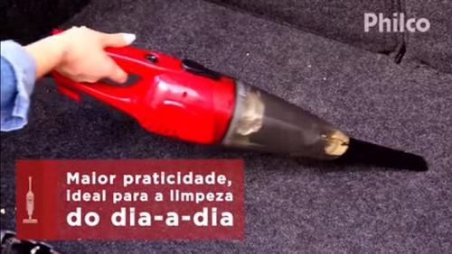 vassoura elétrica aspirador de pó portátil philco 1000w 110v