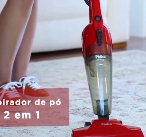 vassoura elétrica aspirador pó ph rapid philco 2 em 1 110v