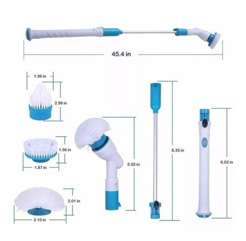 vassoura elétrica magic escova spin 3-1 recarregável p/en