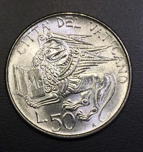 vat006 moneda vaticano 50 liras 1985 unc-bu ayff