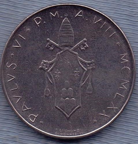 vaticano 100 lire 1970 * paulus vi * paloma y rama de olivo