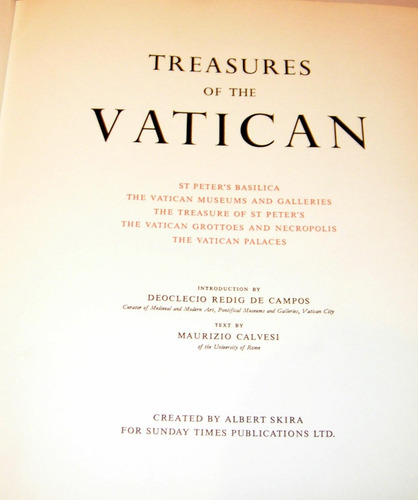 vaticano. treasures of the vatican. d. redig de campos