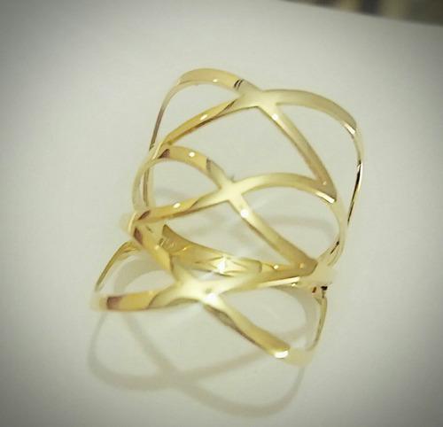 vazado ouro anel