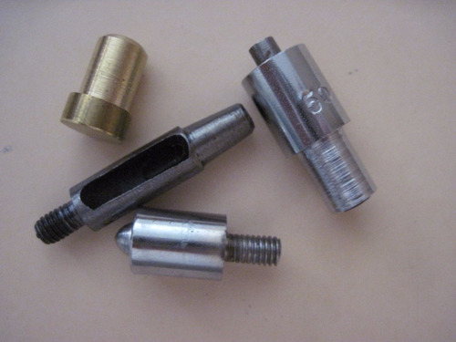 vazador + base p/ balancim   prensa uso p/ ilhós ou rebites