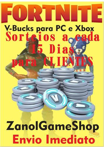 vbucks fortnite para pc 2500+300(bônus) pc