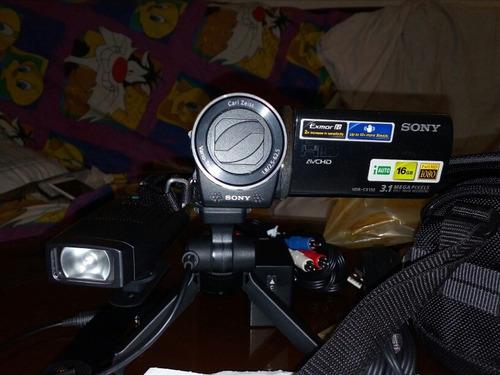 vdeo camara sony hdr-cx150 con doble pilay todos los acces