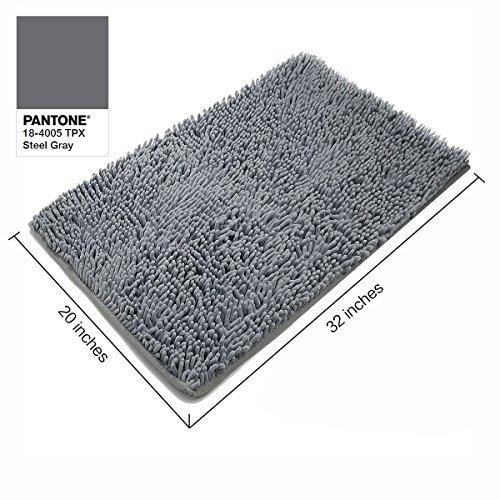 vdomus absorbente de microfibra baño mat suaves shaggy baño