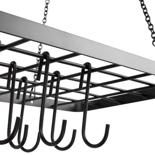 vdomus pot estante techo monte utensilios de cocina estante