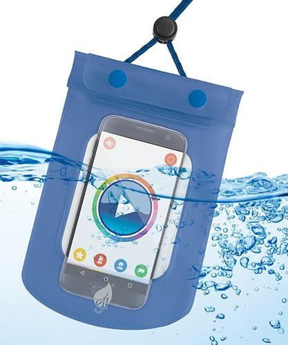 vecc05 bolsa contra  agua con triple sello p/ celular iphone
