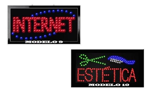 vecctronica: anuncios led luminosos con diferentes modelos