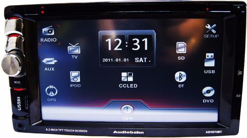 vecctronica: audiobahn auto estereo 6.2 doble din usb dvd bt