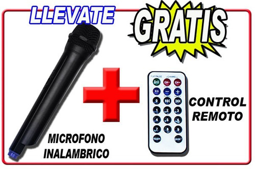 vecctronica: bafle recargable 15 activo akustik leds usb y..