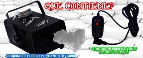 vecctronica: maquina de humo 400w alambrica potencia maxima