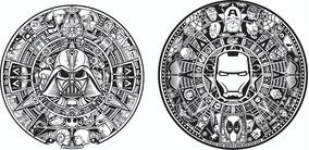 Calendario Azteca Vectores.Vector Calendario Azteca Los Simpson Star War Marvel