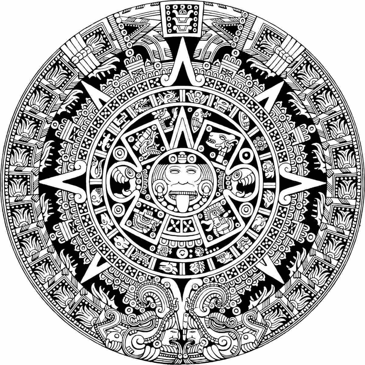 Calendario Azteca Vectores.Vector Maya Vector Azteca Calendario Vectores Corte Vinil