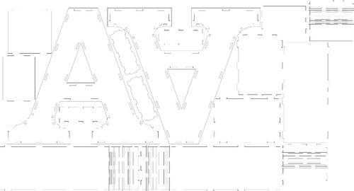 vector para corte laser para letras en 3d 30cm y 60cm