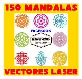 Vectores Corte Laser 150 Mandalas Caladas