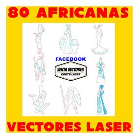 Vectores Corte Laser 80 Figuras Africanas