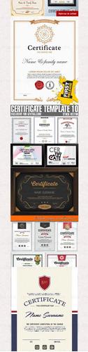 vectores de diplomas, certificados para editar mas de 500