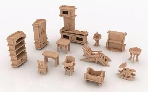 vectores para armar casas de muñecas y muebles muy bueno