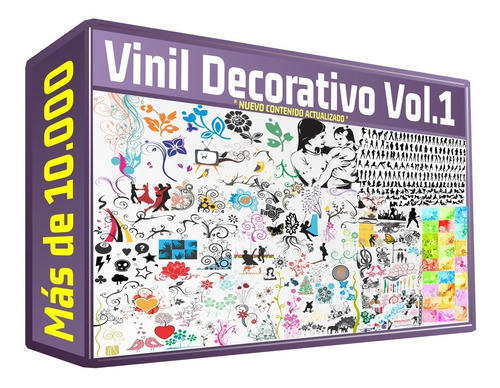 vectores para decoracion en paredes plotter corte viniles