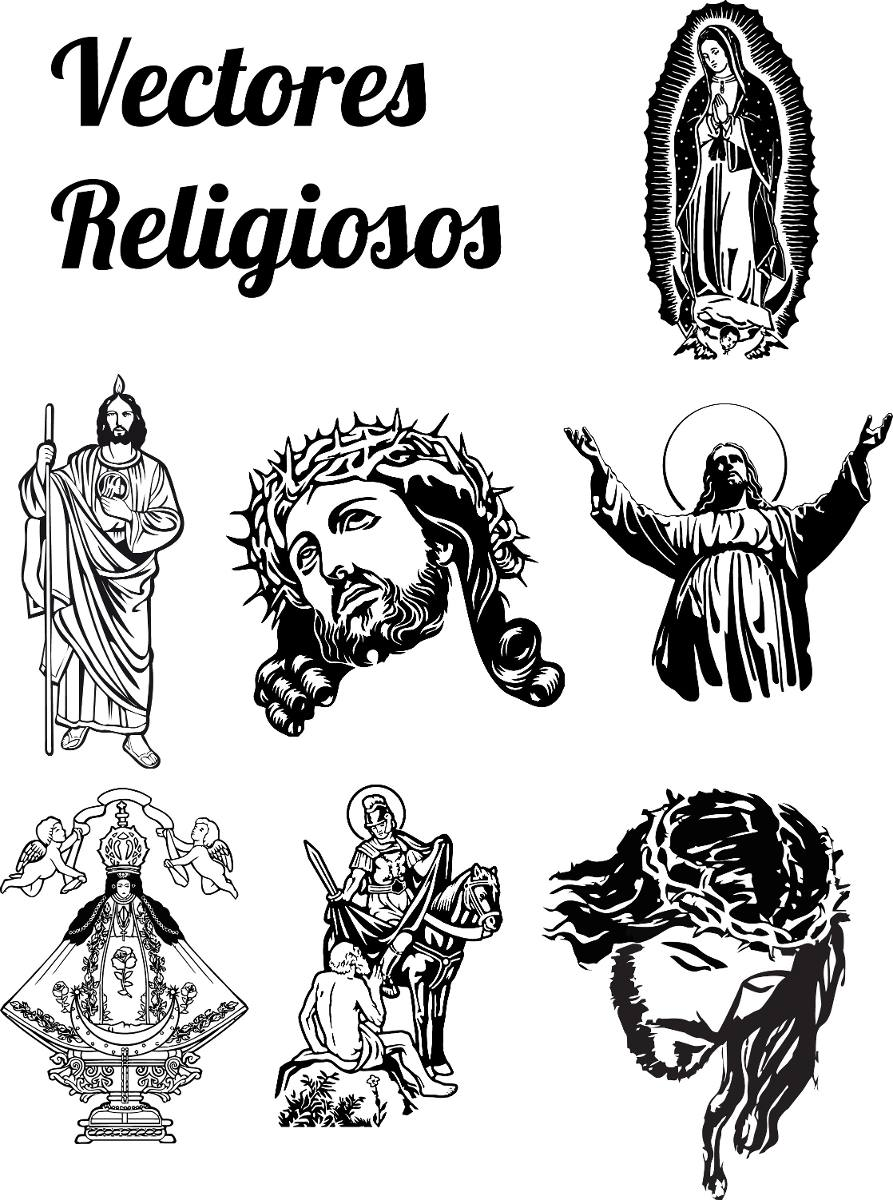 Vectores Religiosos Para Serigrafia O Corte De Vinil
