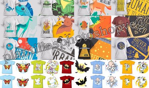 vectores serigrafia o estampado para playeras 8000  diseños