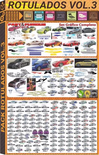 vectores tunning furiosos car design stiker autos plotter