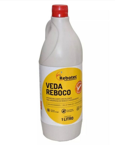 veda reboco impermeabilizante líquido 1 litro rebotec sp