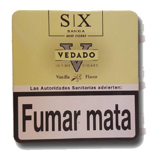 vedado mini vainilla lata x30 cigarros cigarritos puritos