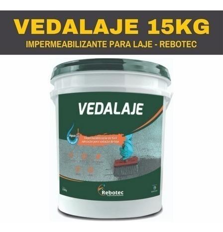 vedalaje impermeabilizante 15 kg rebotec p/laje