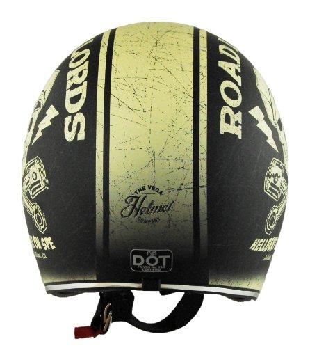 vega x380 casco con hell-bent en gráfico de velocidad (marfi