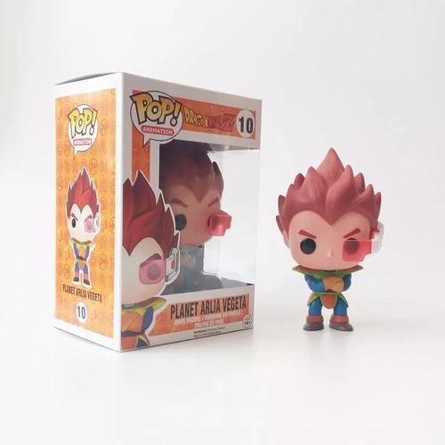 vegeta planet arlia figura funko pop! 10cm #10 dragon ball