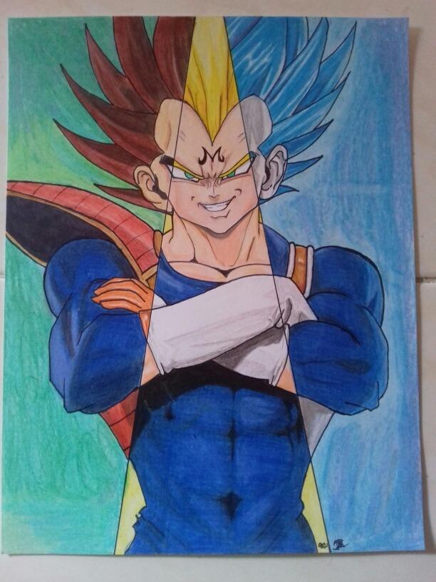 Vegeta Y Goku Dibujos A Lapices De Colores 54900 En Mercado Libre
