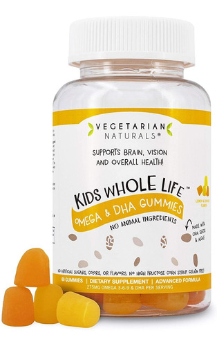 vegetarian naturals® kids whole lifetm omega 3 dha vegan vit