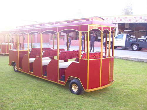 vehículo / carro / carrito eléctrico tipo troley para 8 pax