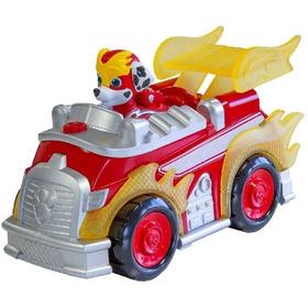 Vehículo Con Figura Paw Patrol Mighty Pups Carro Luz Sonidos