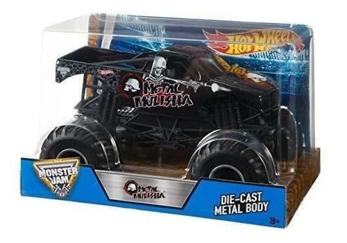 vehiculo hot wheels monster jam metal mulisha nuevo original