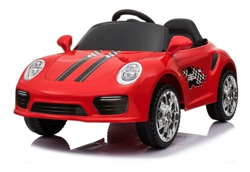 vehículo infantil cabrio rojo