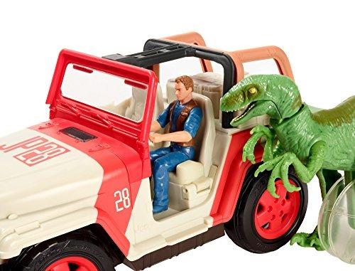 vehiculo jurassic world jeep wrangler raptor attack rc
