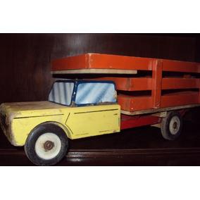 Juguete Camion Madera Epoca De Peron 4Aj35RL