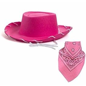 aa57df8b153c1 Sombrero De Vaquera Con Pañuelo Color Rosa Para Niñas.